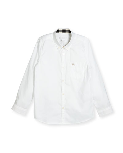 Fred Mini Long-Sleeve Shirt  White  Size 4-14