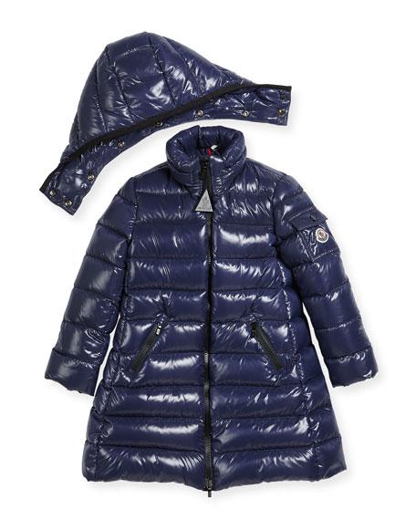 Moka Down Puffer Coat, Dark Blue, Size 4-6