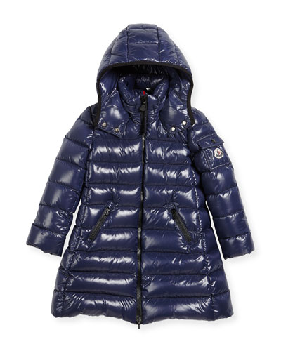 Moka Down Puffer Coat, Dark Blue, Size 4-6