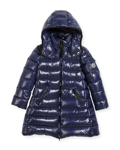 Moncler Moka Down Puffer Coat, Dark Blue, Size