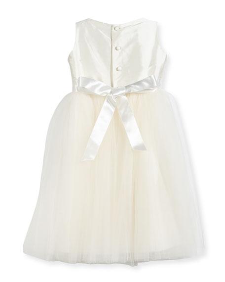 Enchanting Lace-Trim Silk & Tulle Dress, Size 2-3