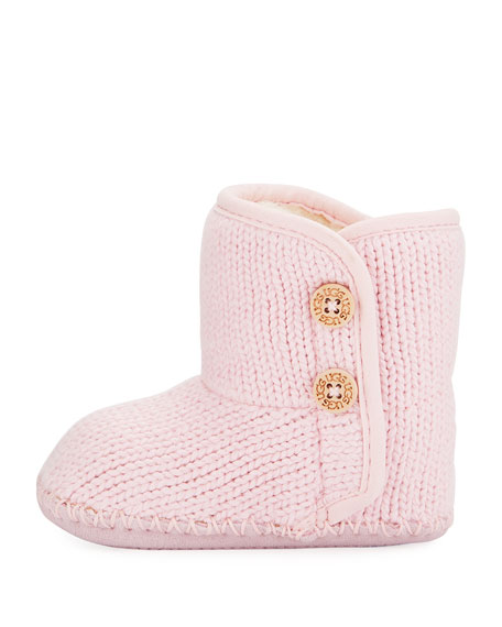 Purl Knit Baby Bootie