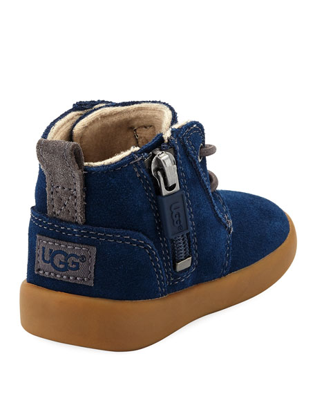 Girls' Suede Kristjan Boot, Navy, Infant Sizes 0-12 Months