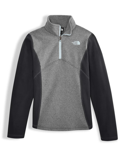 Glacier Two-Tone Fleece Half-Zip Pullover, Gray, Size XXS-XL