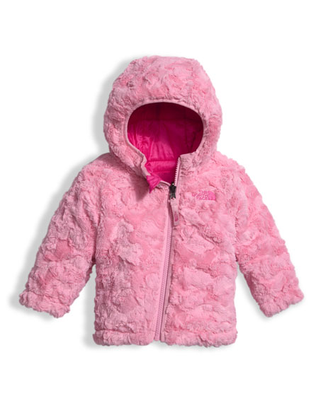 Girls' Reversible Mossbud Swirl Jacket, Pink, Size 3-24 Months