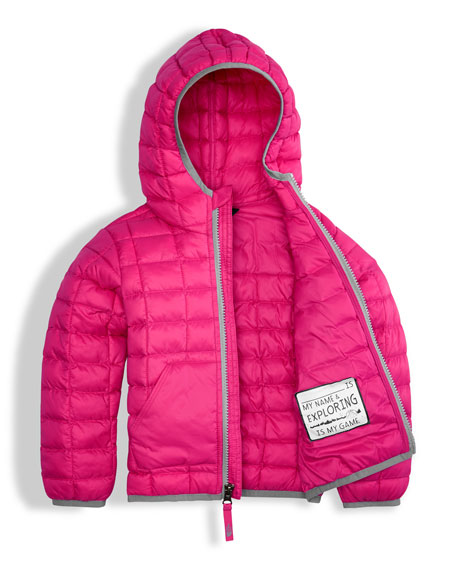 ThermoBall Hooded Jacket, Pink, Size 2-4T