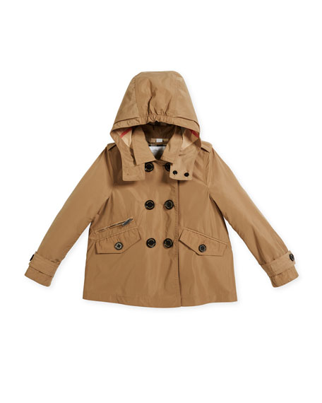 Burberry Margeretta Double-Breasted Trenchcoat, Beige, Size 4-14