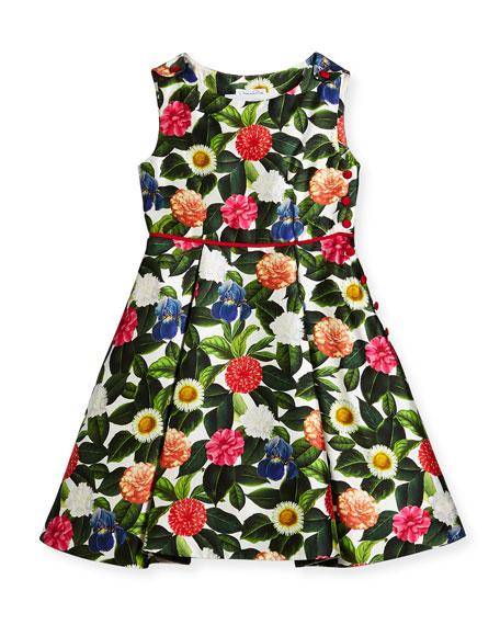 Oscar de la Renta Mikado Flower Jungle Dress
