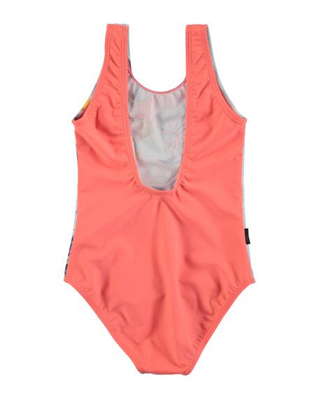 Nika One-Piece Hummingbird Swimsuit, Size 2-12