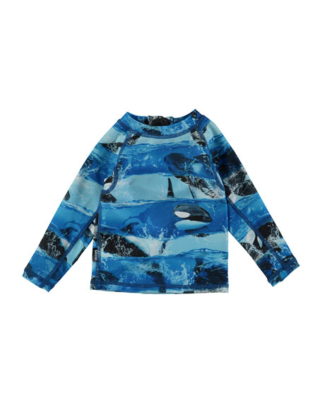 Nemo Killer Whales Long-Sleeve Rash Guard, Size 3-24 Months