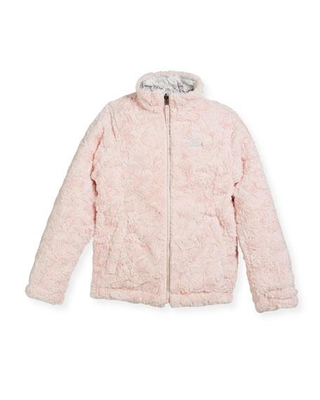 Girls' Reversible Mossbud Swirl Jacket, White, Size XXS-XL