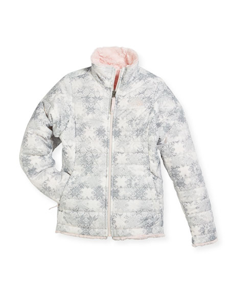 The North Face Girls' Reversible Mossbud Swirl Jacket,
