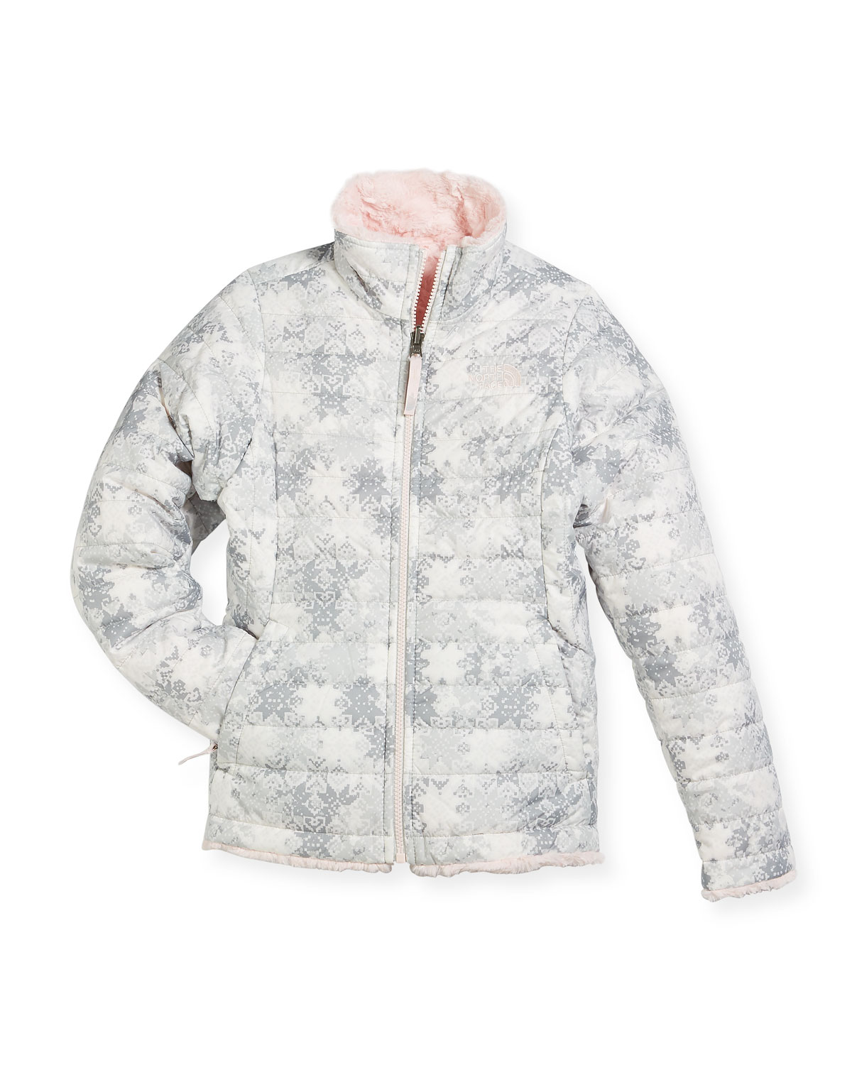 a80e012a4 The North Face Girls  Reversible Mossbud Swirl Jacket