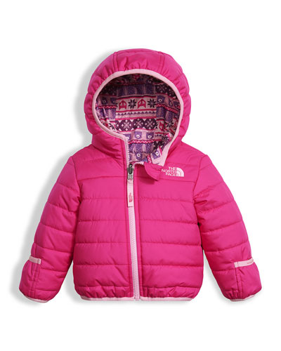 Reversible Perrito Quilted Jacket, Pink, Size 3-24 Months
