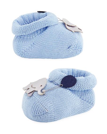 Story Loris Elephant Booties, Light Blue, Infant