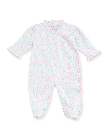 Kissy Kissy Dina Darlings Ruffle Footie Pajamas, Size