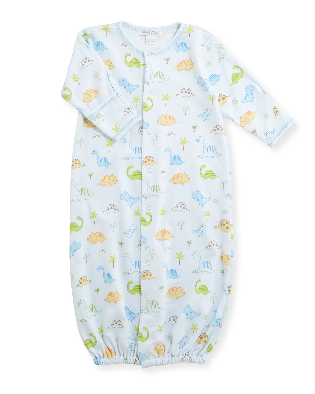 Kissy Kissy Dino Dudes Convertible Pima Sleep Gown, Size Newborn ...
