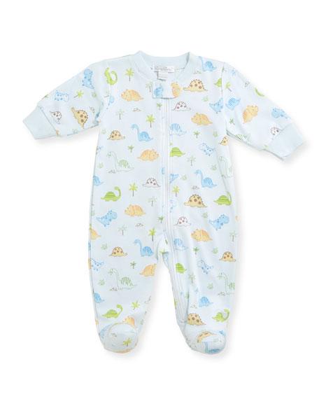 Kissy Kissy Dino Dudes Zip-Up Footie Pajamas, Size