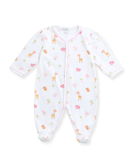 Safari Stroll Pima Footie Playsuit, Size Newborn-9M