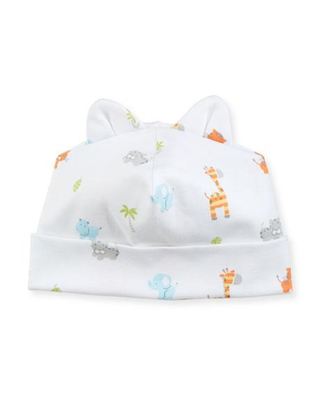 Safari Stroll Pima Baby Hat w/ Animal Ears