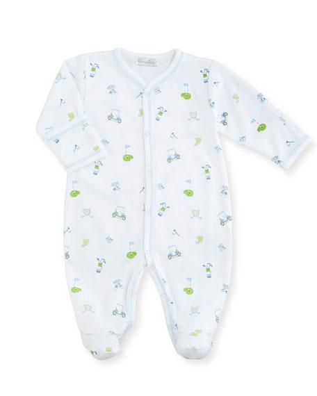 Daddy's Caddy Print Pima Footie Pajamas, Size Newborn-9M