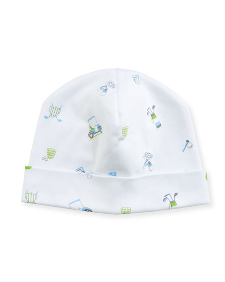 Kissy Kissy Daddy's Caddy Pima Baby Hat, Blue