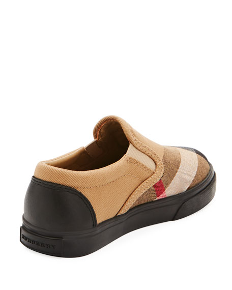 Linus Check Canvas Slip-On Sneaker, Toddler/Youth Sizes 10T-3Y