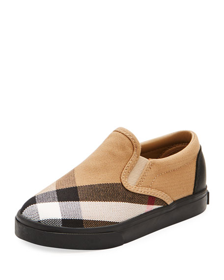 Burberry Linus Check Canvas Slip-On Sneaker and Matching