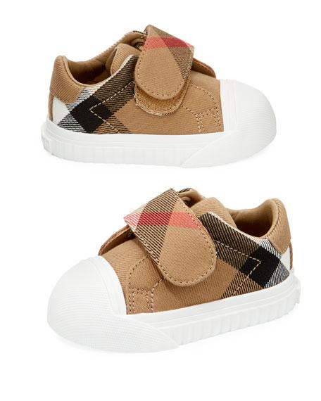 Beech Check Sneaker, Beige/White, Infant/Toddler Sizes 3M-5T