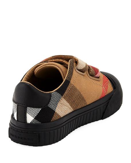 Belside Check Sneaker, Beige/Black, Toddler Sizes 7-10