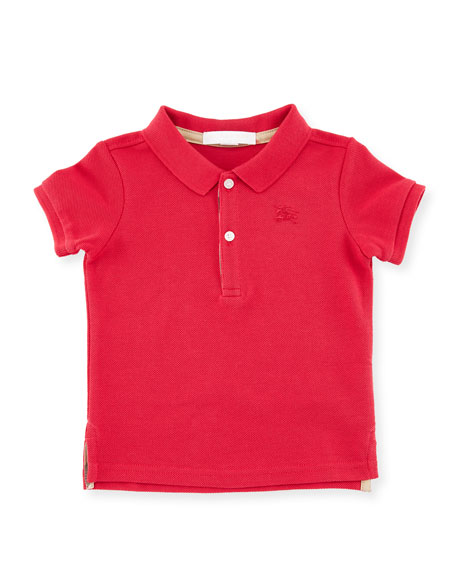 Palmer Short-Sleeve Polo Shirt, Pink, Size 12M-3Y