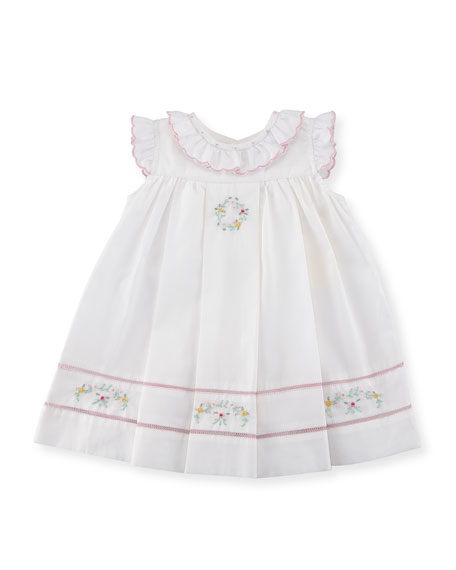 Luli & Me Floral-Embroidered Ruffle Dress, Size 3-24