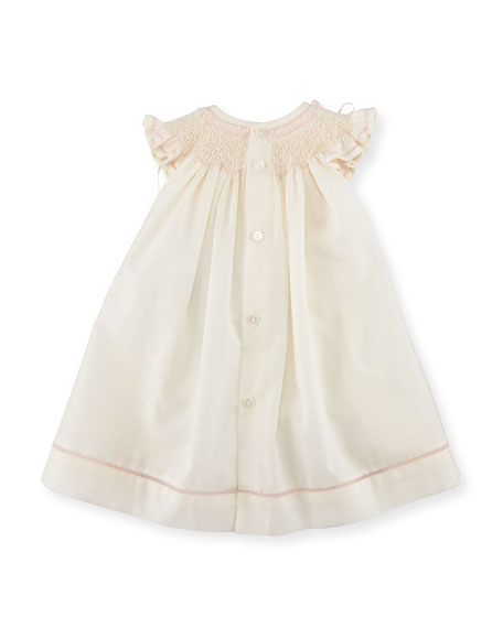 Smocked Ribbon Dress w/ Ruffle Bloomers, Size Newborn-9M