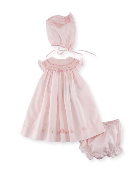 Luli & Me Bishop Dress Layette Set, Size
