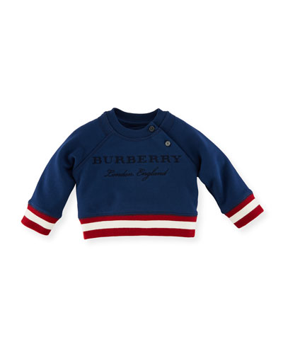 Stanley Logo Sweatshirt, Blue, Size 6M-3Y