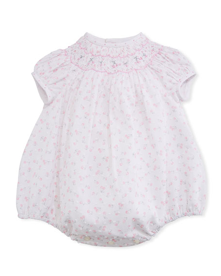 Luli & Me Cherry-Print Bubble Playsuit, Size 3-24