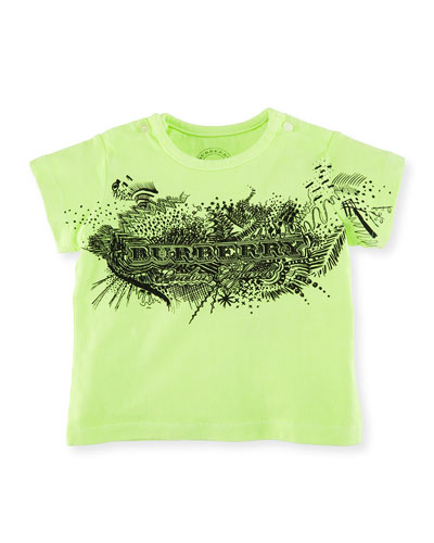 Rydon Scribble-Print Cotton T-Shirt, Size 6M-3Y