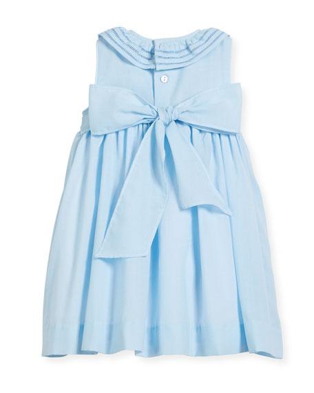 Smock Dress w/ Ruffle Neck, Size 2-4T