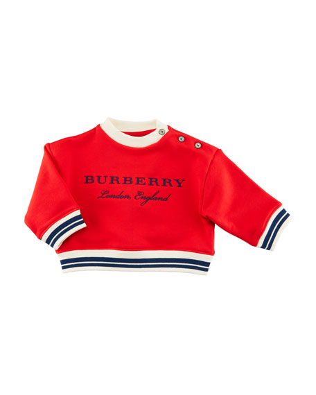 Burberry Emillia Logo Sweatshirt, Red, Size 6M-3