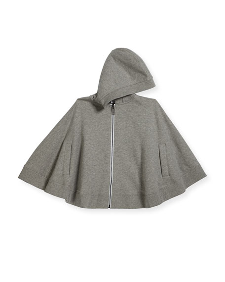 Burberry Melissa Cotton Hooded Cape, Size S-L
