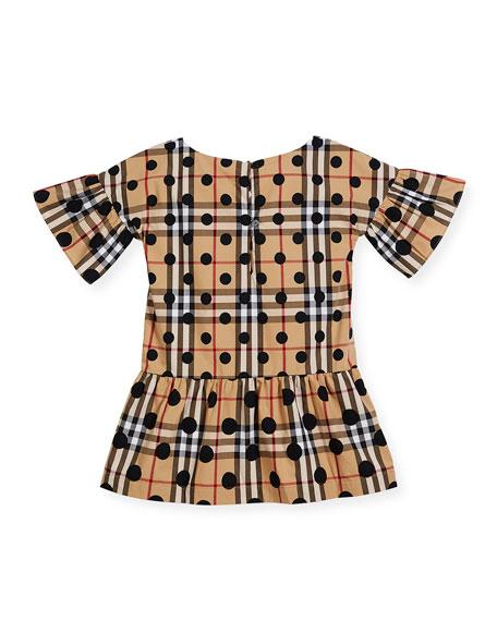 Anabella Check & Polka-Dot Dress, Size 4-14