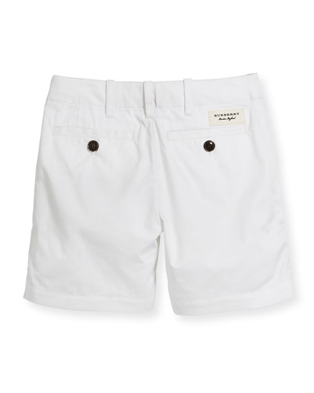 Tina Cotton Shorts, White, Size 4-14
