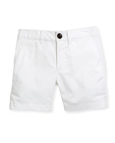 Tina Cotton Shorts, White, Size 4-14