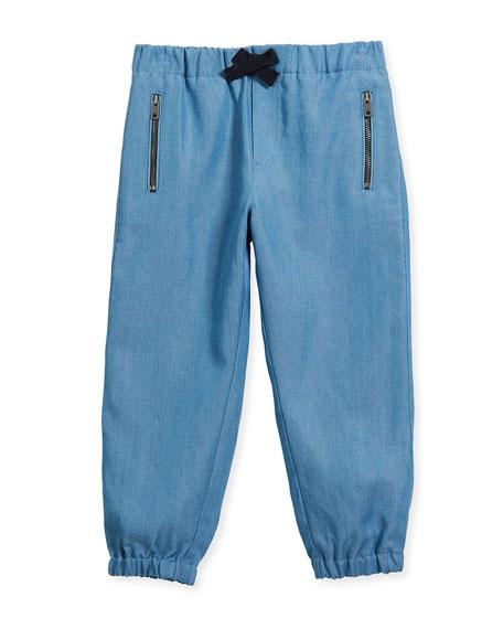 Burberry Phillie Track Pants, Blue, Size 4-14