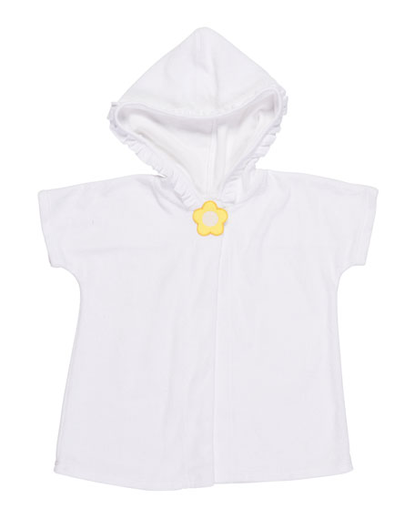 Florence Eiseman Knitted Terry Cloth Hooded Swim Coverup,