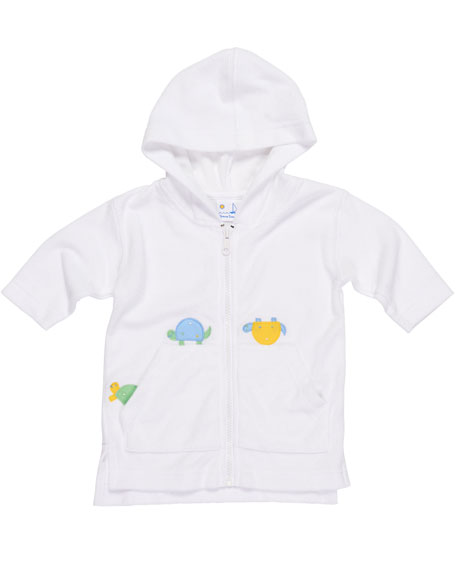 Knitted Terry Hooded Turtle Jacket, Size 6-24 Months