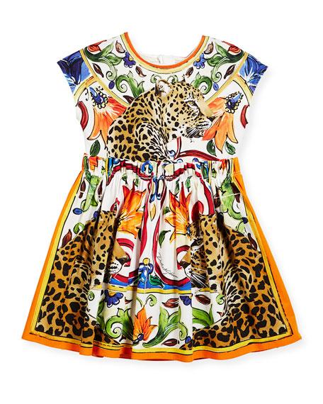 Dolce & Gabbana Maiolica & Cheetah Print Cotton
