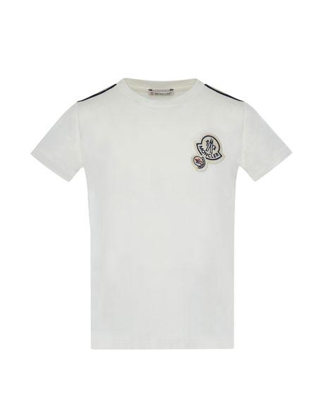 Moncler maglia short sleeve t shirt w logos off white for Off white moncler t shirt