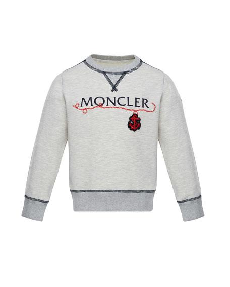 Moncler Maglia Pullover Logo Sweatshirt, Size 8-14