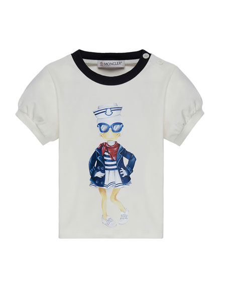 Moncler Maglia Short-Sleeve Sailor Duck T-Shirt, Size 12M-3Y